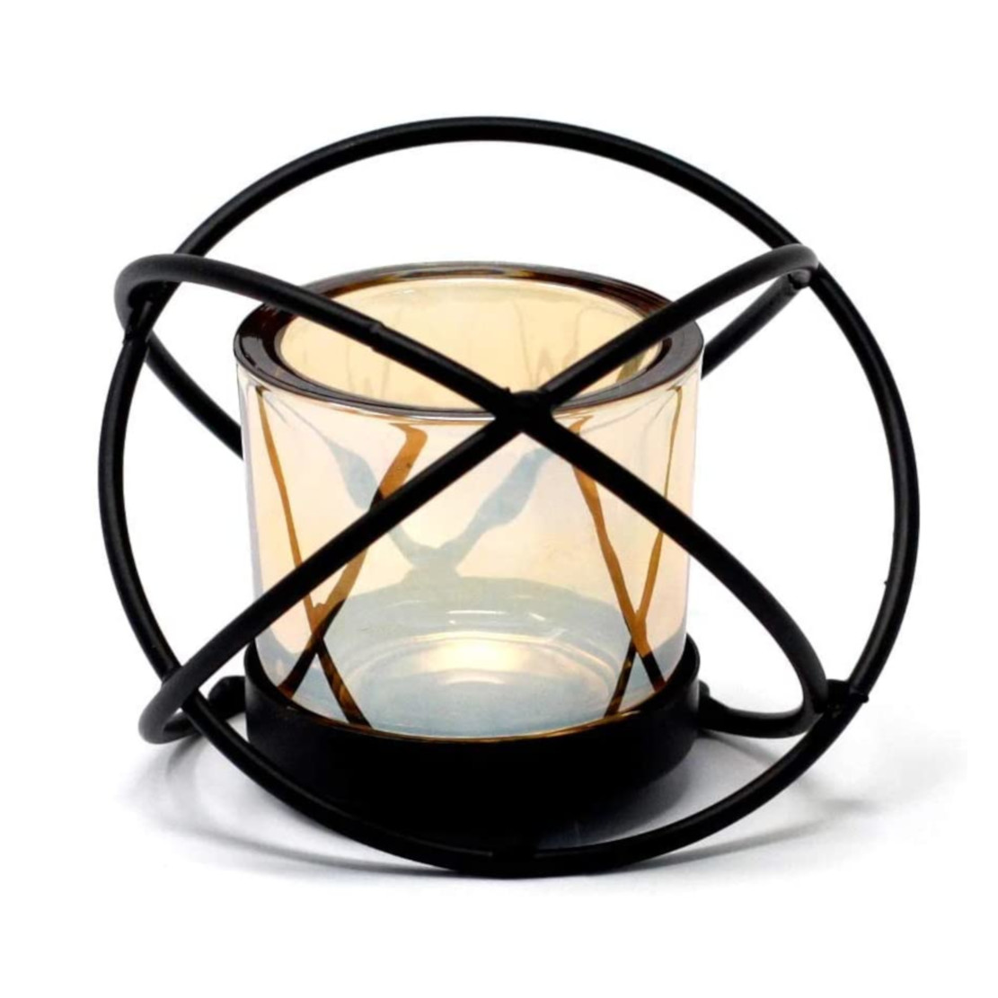 Ancient Wisdom Iron Candle Holder - Sphere
