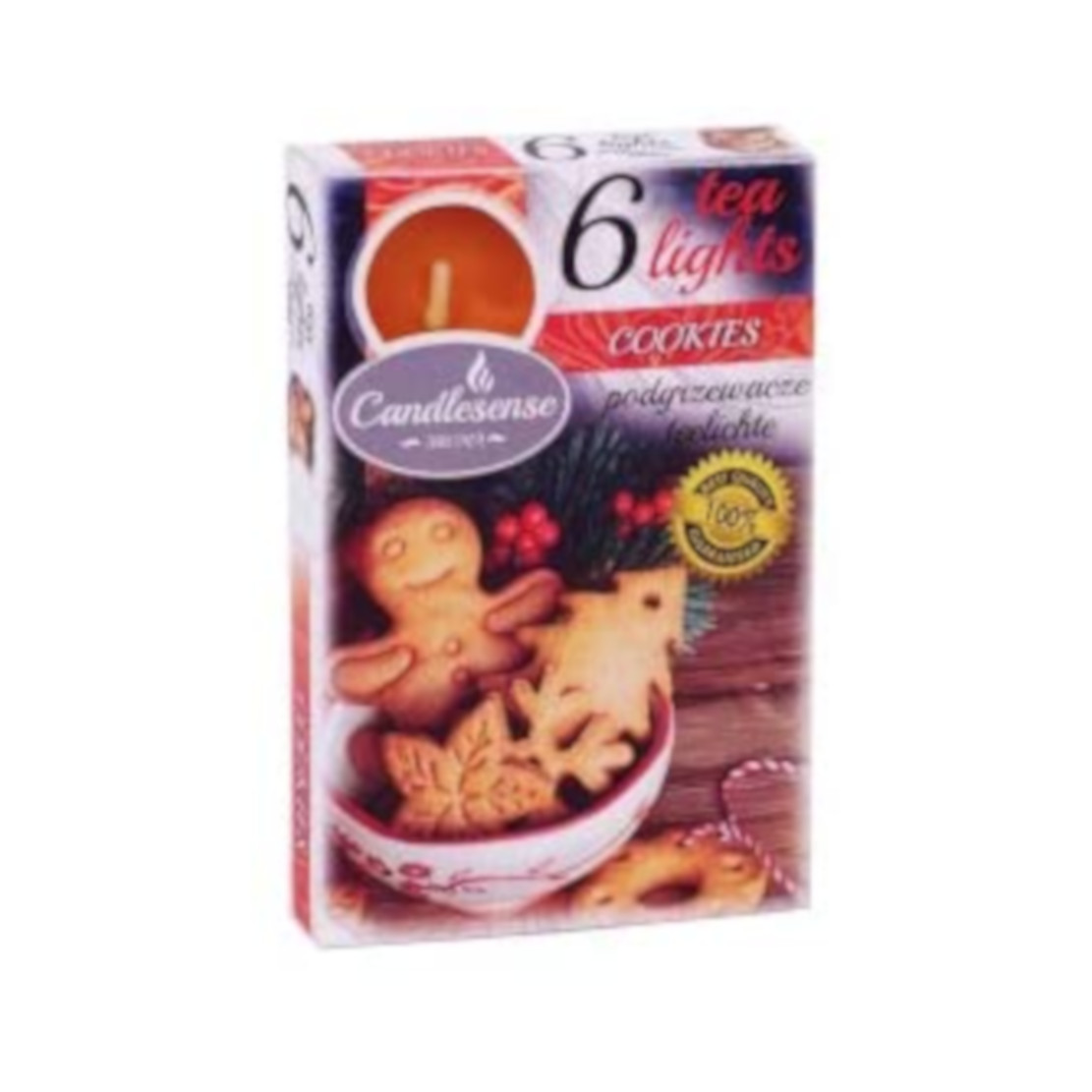 Candlesense Cookies Scented Tealights - Set of 6