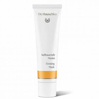 Dr Hauschka Firming Mask is specially formulated to fortify and protect your skin, the mask is enriched with rose, marshmallow and pansy to support the skin's natural renewal processes, whilst rose petal extract, rose wax and rose essential oil support elasticity. Your skin will be left feeling smooth, soft and supple.