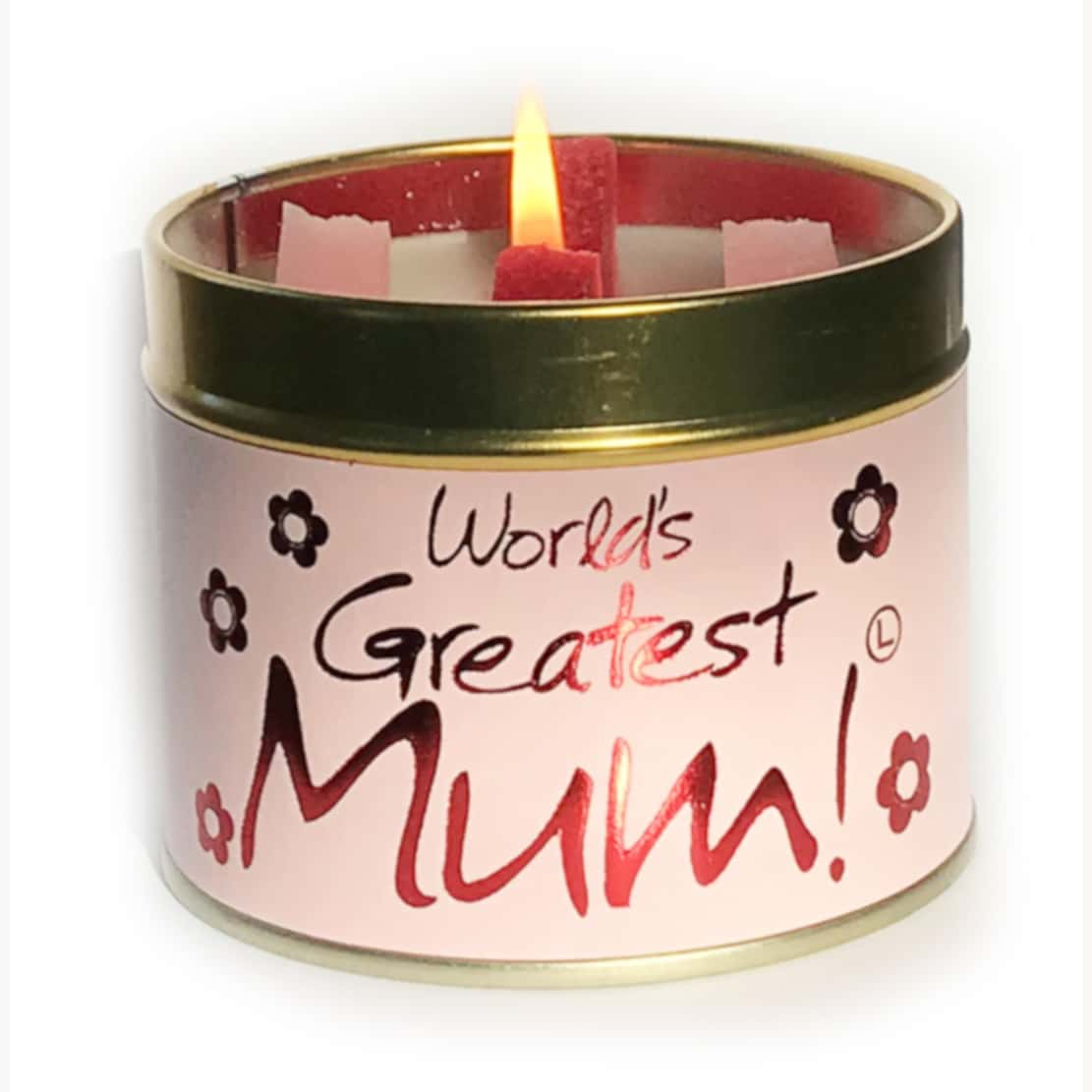 Lily Flame Worlds Greatest Mum Tin Candle