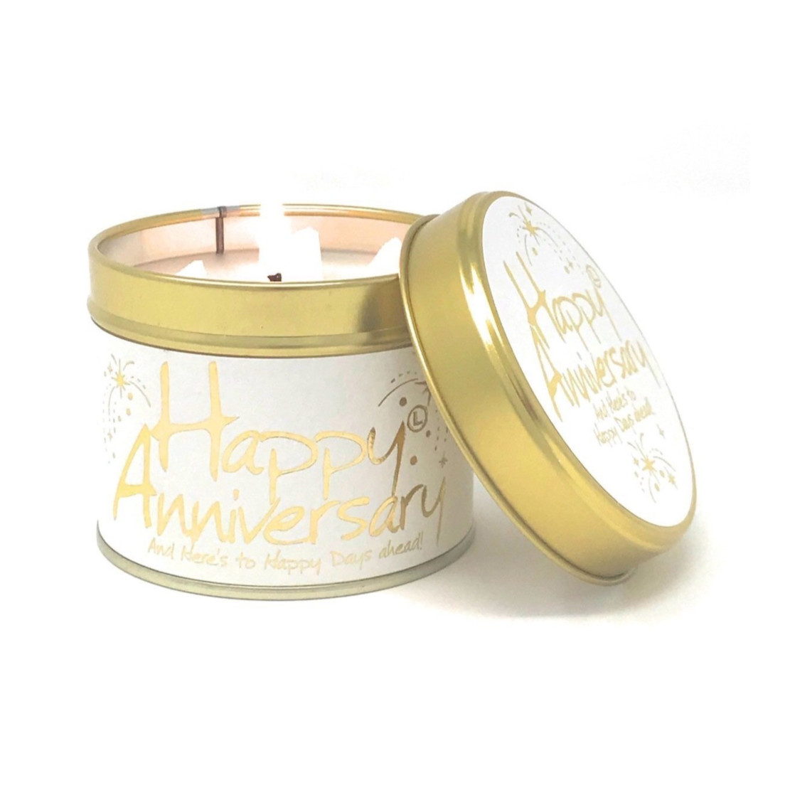 Lily Flame Happy Anniversary Scented Tin Candle