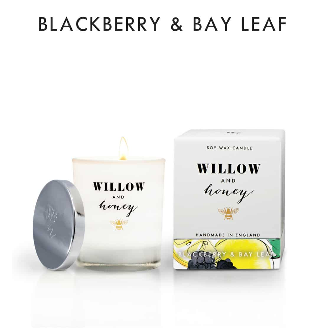 Willow and Honey Blackberry and Bay Leaf Candle 220g
