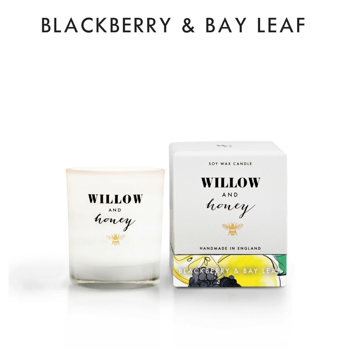 Willow and Honey Blackberry and Bay Leaf Candle 60g
