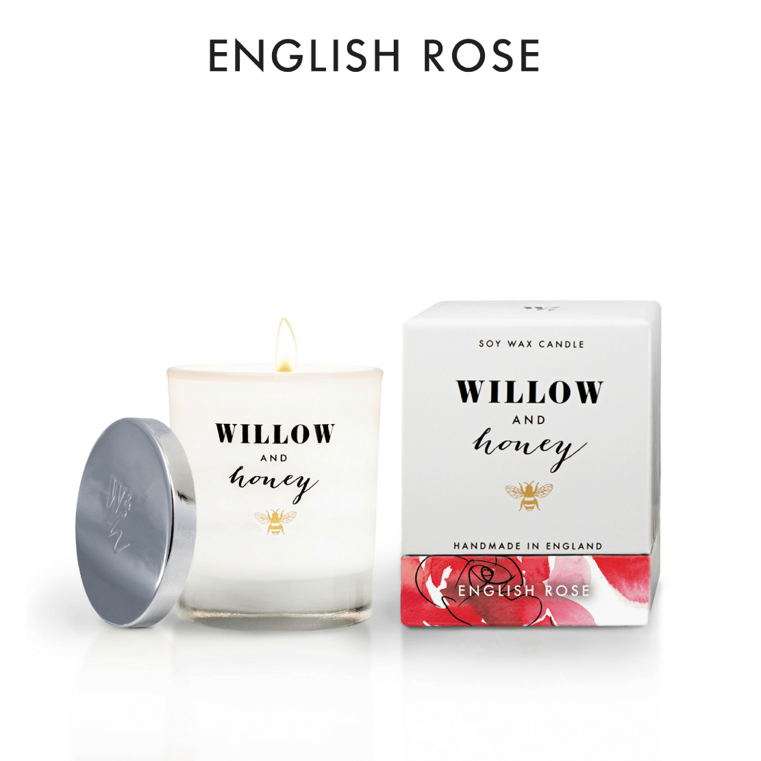 Willow and Honey English Rose Candle 220g