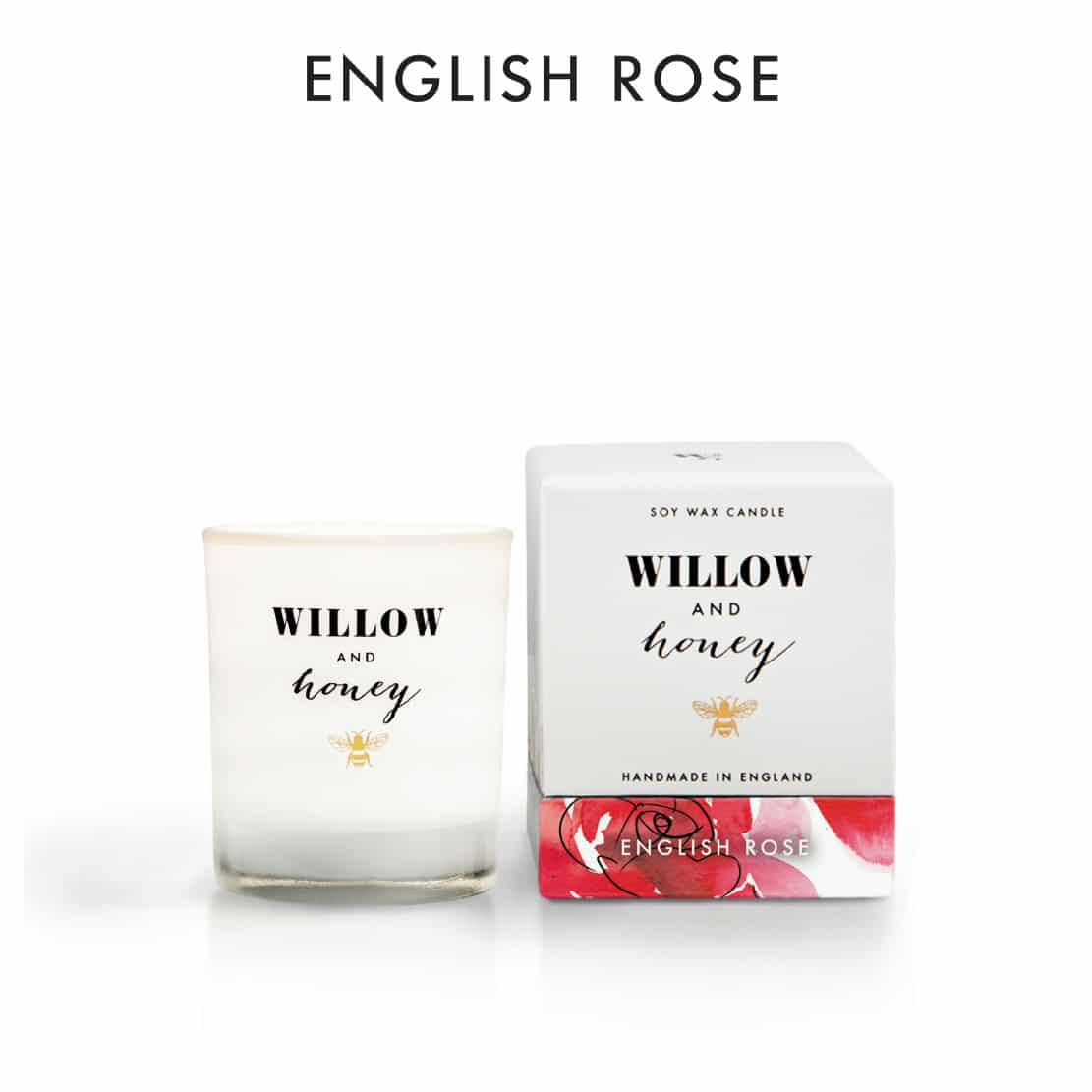 Willow and Honey English Rose Candle 60g