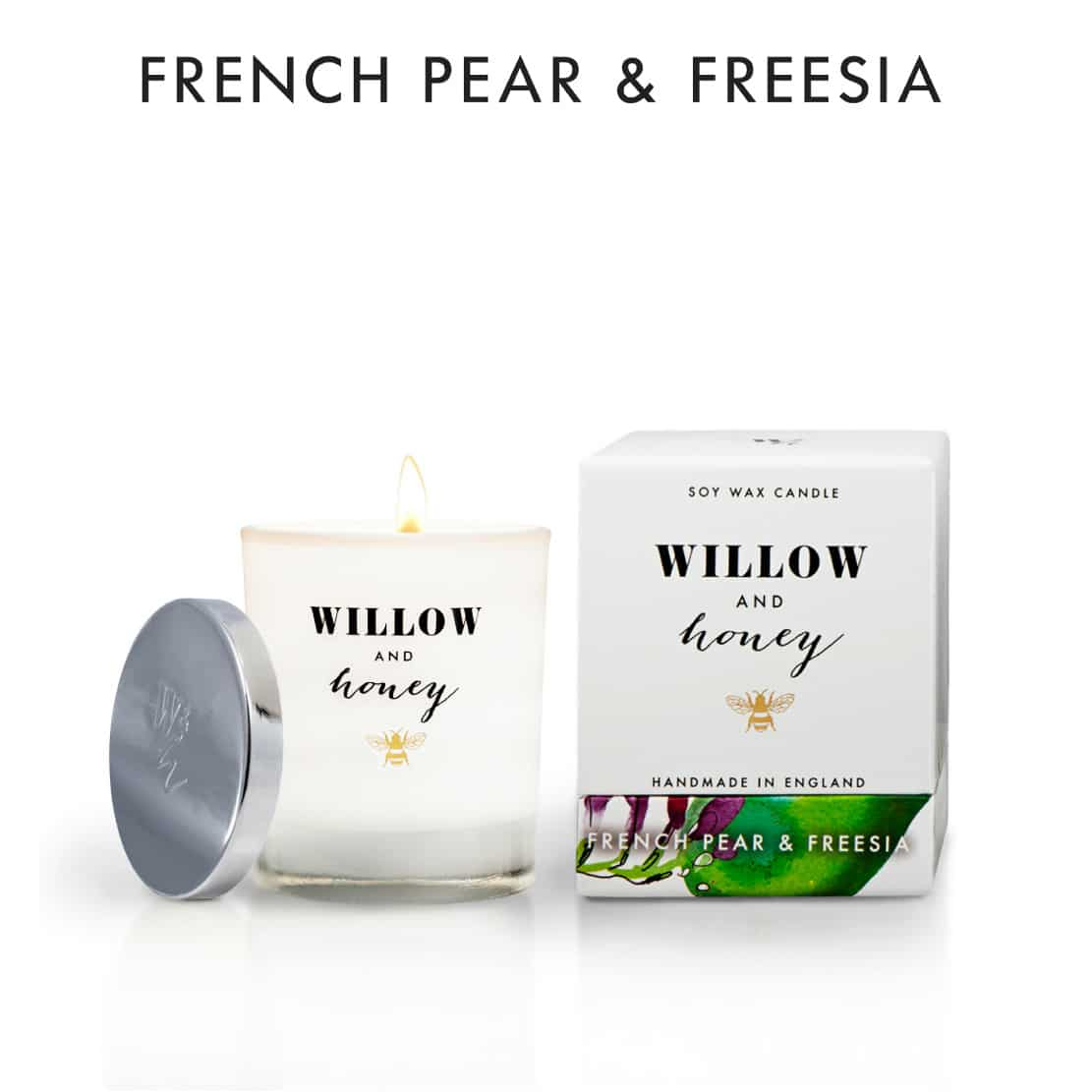 Willow and Honey French Pear and Freesia Candle 220g