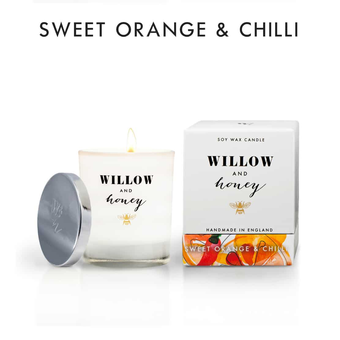 Willow and Honey Sweet Orange and Chilli Candle 220g