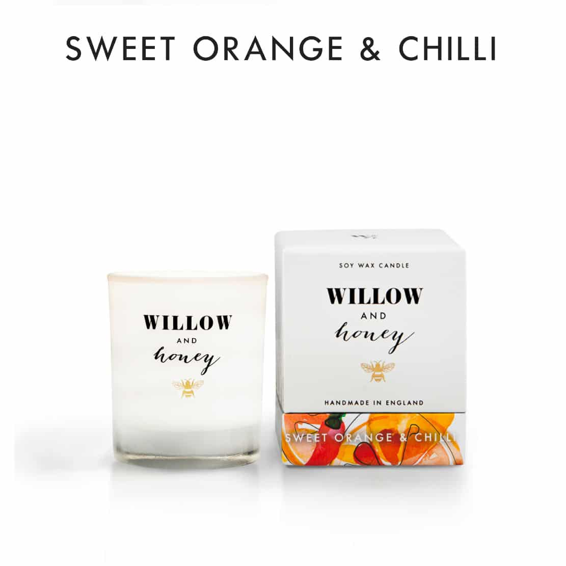 Willow and Honey Sweet Orange and Chilli Candle 60g