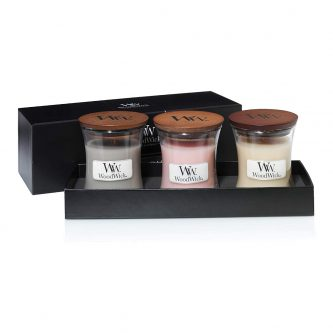 Woodwick Fireside 3 Small Jar Gift Set