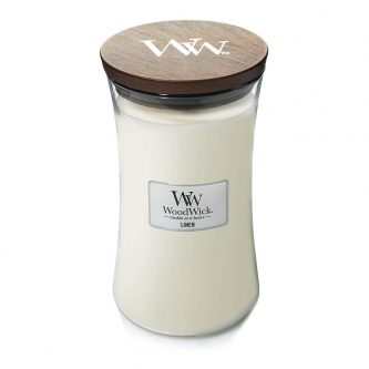 Woodwick Linen Large Jar Candle