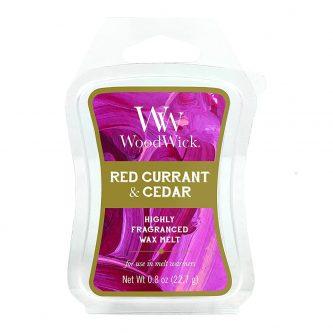 Woodwick Red Currant & Cedar Wax Melt