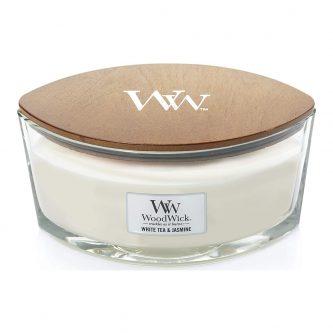 Woodwick White Tea & Jasmine Hearthwick Eclipse Candle