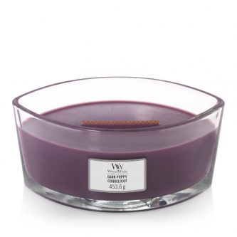 Woodwick Dark Poppy Hearthwick Candle