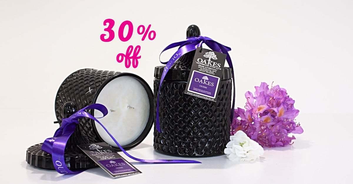 September Sale 30% Off Candles