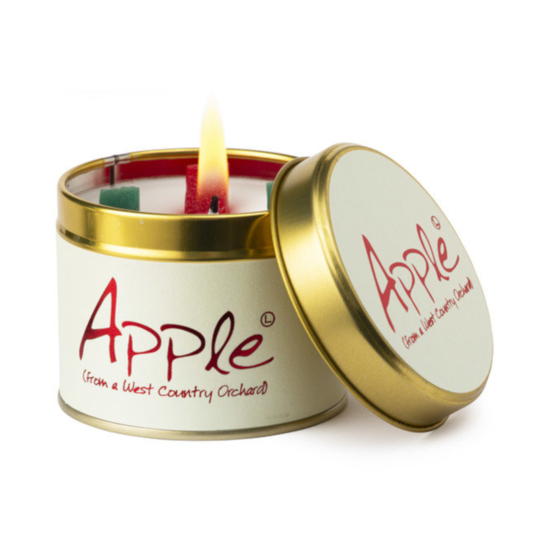 Lily Flame Apple Scented Tin Candle