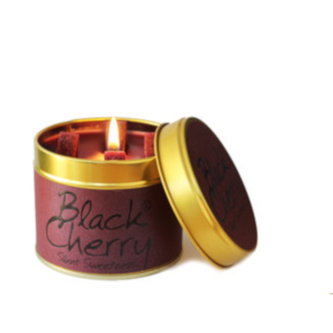 Lily Flame Black Cherry Tin candle