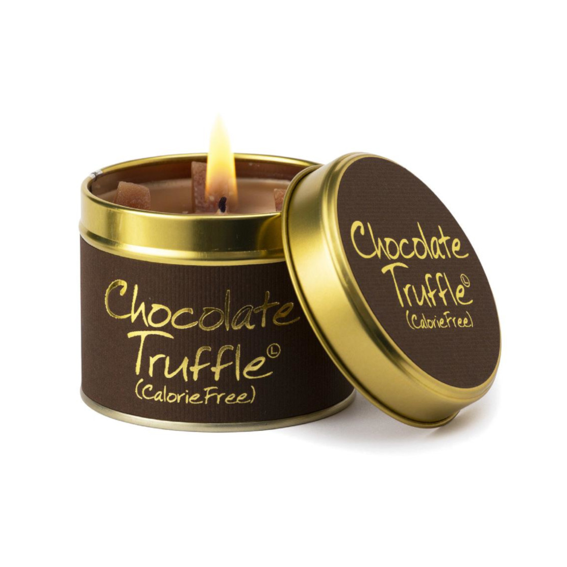 Lily Flame Chocolate Truffle Scented Tin Candle
