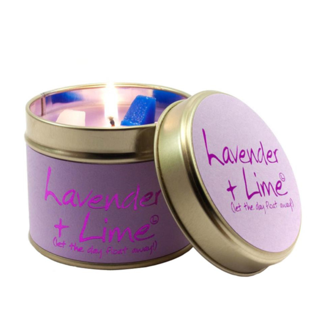 Lily Flame Lavender & Lime Scented Tin Candle