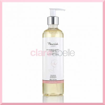 Nourish Geranium and Jasmine Shower Gel 300ml