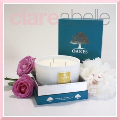 Oakes Candles - Ginger & Lemongrass Three Wick Candle 500g