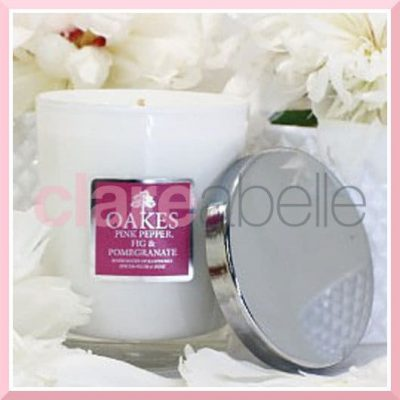 Oakes Candles - Pink Pepper, Fig & Pomegranate Votive Candle 180g