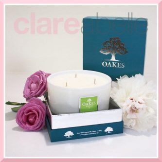 Oakes Candles - Pomelo & Basil Three Wick Candle 500g