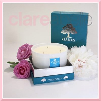 Oakes Candles - Sea Salt & Neroli Three Wick Candle 500g