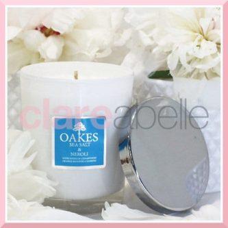 Oakes Candles - Sea Salt & Neroli Votive Candle 180g