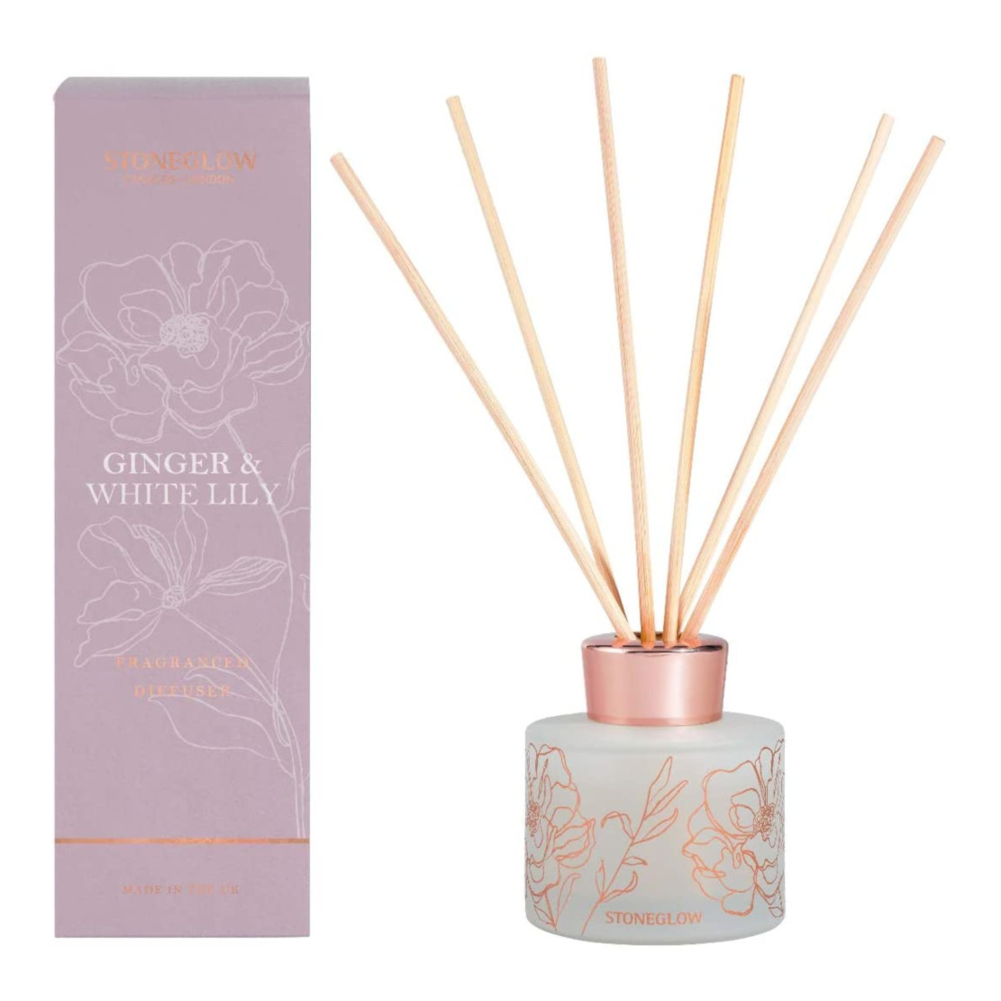 Stoneglow Day Flower Ginger & White Lily Reed Diffuser 120ml