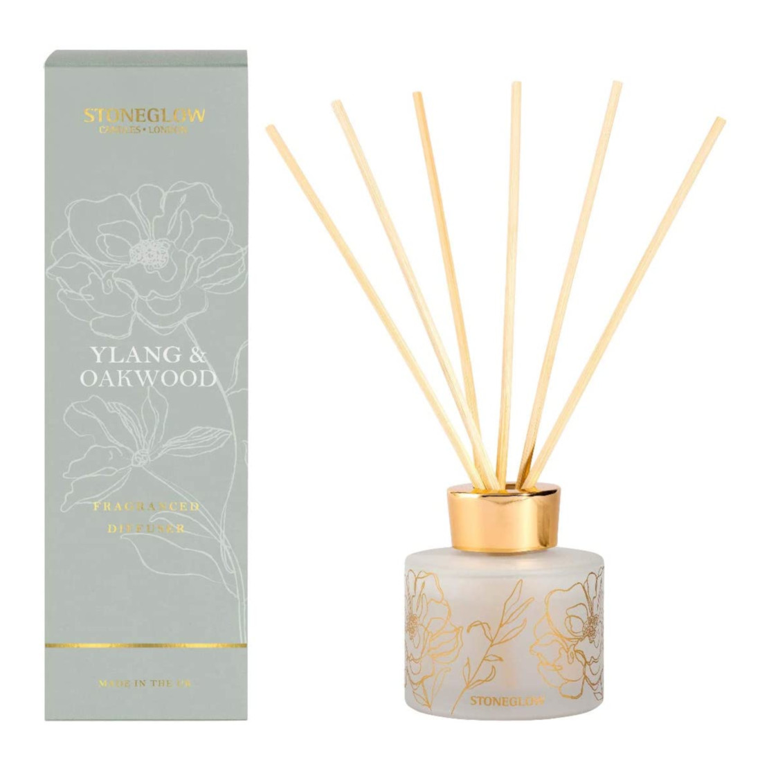 Stoneglow Day Flower Ylang & Oakwood Reed Diffuser 120ml