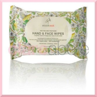 Storksak organic cotton hand & face wipes