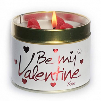 Lily Flame Be My Valentine Tin Candle