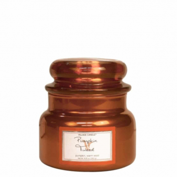 Village Pumpkin Tweed 11oz Small Jar Candle