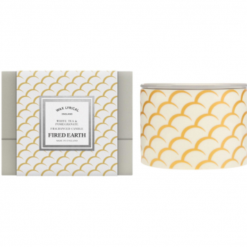 Wax Lyrical White Tea and Pomegranate Ceramic Candle Gift Boxed