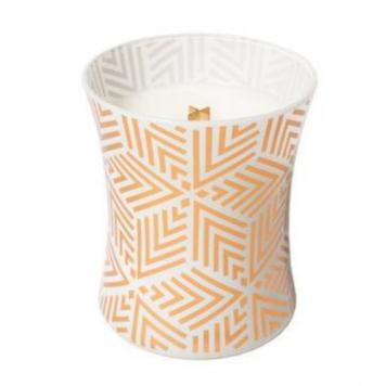 Woodwick White Teak Medium Jar Candle