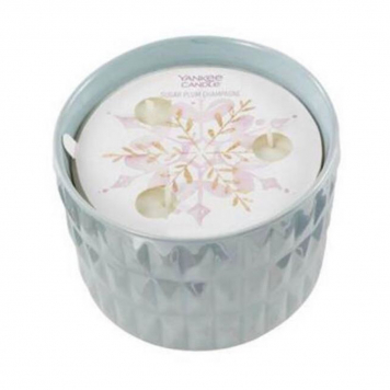 Yankee Candle Sugar Plum Champagne Winter Wish Ceramic Candle