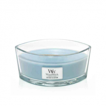 Woodwick Sea Salt & Cotton Hearthwick Candle