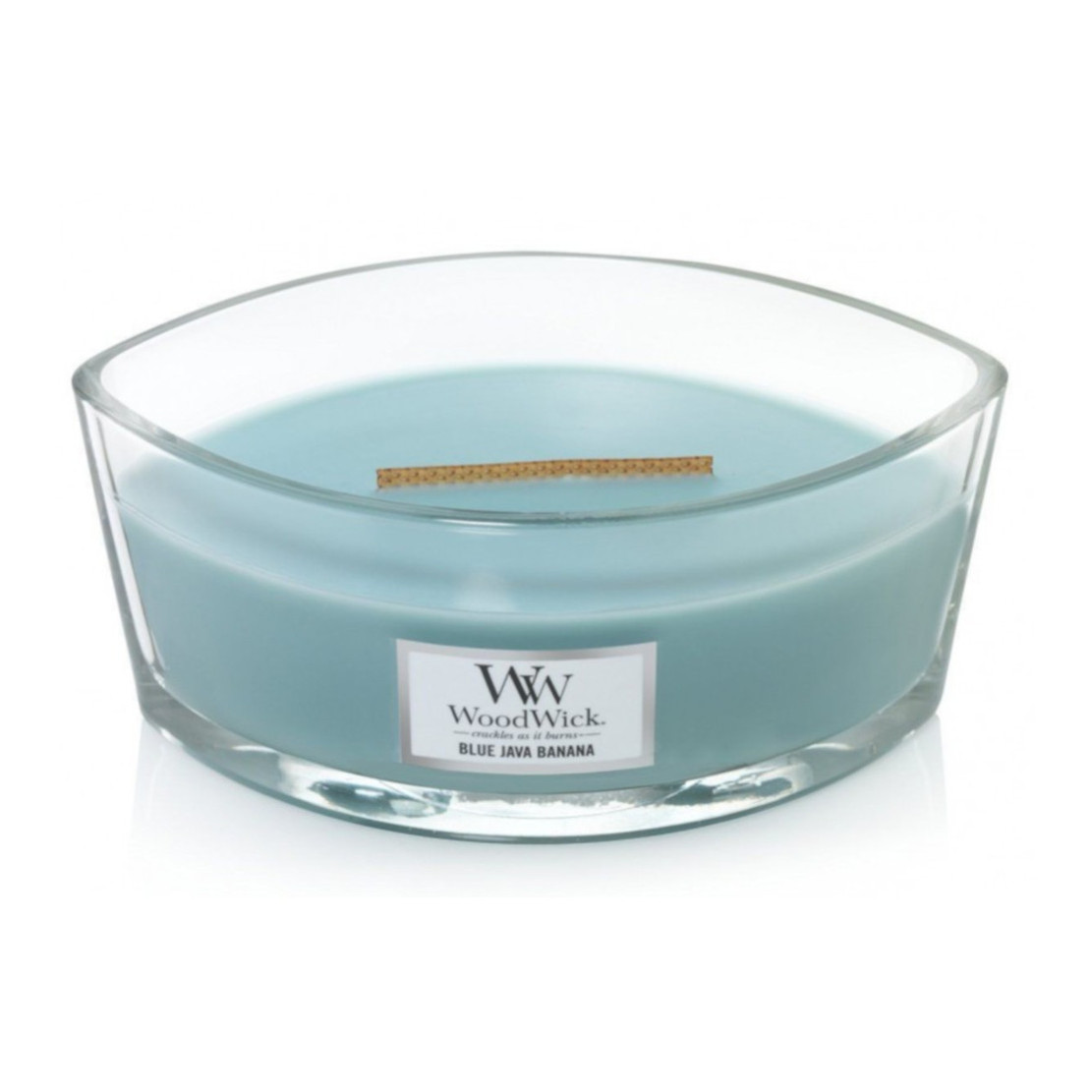 Woodwick Blue Java Banana Ellipse Hearthwick Candle